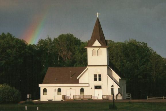 Church_rainbow